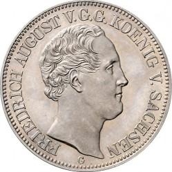 Монета > 1талер, 1839 - Саксония  (Посещение Дрезденского монетного двора) - obverse