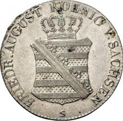 Moneta > 1/12tallero, 1824-1827 - Sassonia  - obverse