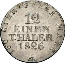Moneta > 1/12tallero, 1824-1827 - Sassonia  - reverse