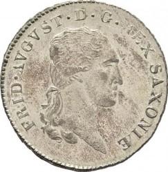 Moneta > ⅙tallero, 1806-1817 - Sassonia  - obverse