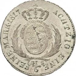 Moneta > ⅙tallero, 1806-1817 - Sassonia  - reverse