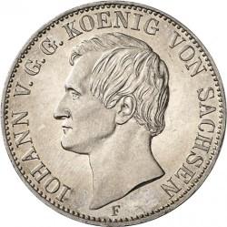 Moneta > 1vereinsthaler, 1857-1858 - Sassonia  - obverse
