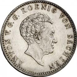 Moneta > 1tallero, 1829-1836 - Sassonia  (Solo testo di denominazione sul rovescio) - obverse
