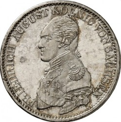Монета > 1талер, 1817-1821 - Саксонія  - obverse