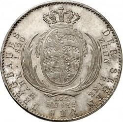 Монета > 1талер, 1817-1821 - Саксонія  - reverse