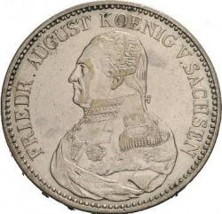 "Moneta > 1tallero, 1824-1827 - Sassonia  (Lettering: ""DER SEEGEN ..."" sul rovescio) - obverse"