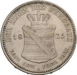 "Moneta > 1tallero, 1824-1827 - Sassonia  (Lettering: ""DER SEEGEN ..."" sul rovescio) - reverse"