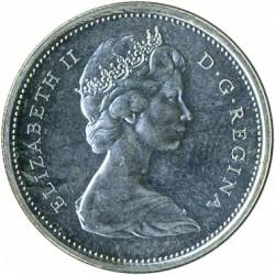 Монета > 25цента, 1965-1966 - Канада  - obverse