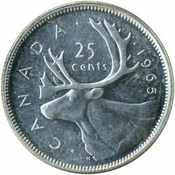 Монета > 25цента, 1965-1966 - Канада  - reverse