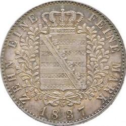 Moneta > 1tallero, 1836-1837 - Sassonia  - reverse