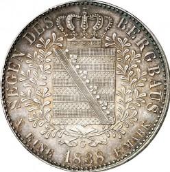 Moneta > 1tallero, 1836-1838 - Sassonia  - reverse