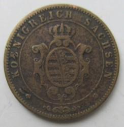 Монета > 5пфеннигов, 1862-1869 - Саксония  - obverse
