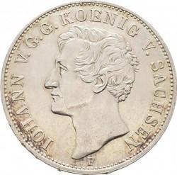 """Moneda > 1taler, 1854 - Sajonia  (John, Letters: """"SEEGEN DES ..."""" on reverse) - obverse"""