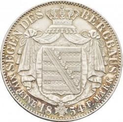 """Moneda > 1taler, 1854 - Sajonia  (John, Letters: """"SEEGEN DES ..."""" on reverse) - reverse"""