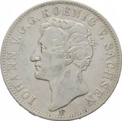 Moneta > 1tallero, 1854 - Sassonia  (Giovanni I, solo denominazione sul rovescio) - obverse
