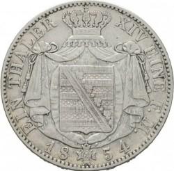 Moneta > 1tallero, 1854 - Sassonia  (Giovanni I, solo denominazione sul rovescio) - reverse