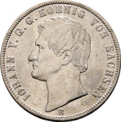 Moneta > 1vereinsthaler, 1861-1871 - Sassonia  (Stemma con leoni sul rovescio) - obverse
