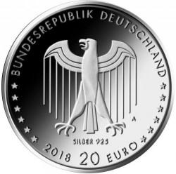 Moeda > 20euro, 2018 - Alemanha  (150th Anniversary - Birth of Peter Behrens) - obverse