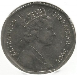 Moneta > 50pence, 2004-2005 - Gibilterra  (300° anniversario - Cattura di Gibilterra) - reverse