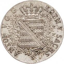 Moneta > 1/24tallero, 1827-1828 - Sassonia  - obverse