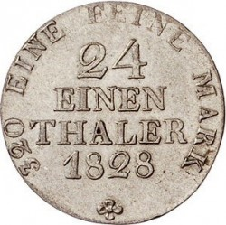 Moneta > 1/24tallero, 1827-1828 - Sassonia  - reverse