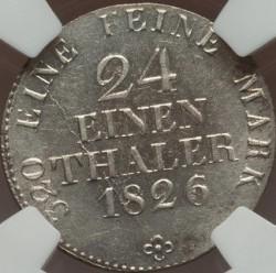 Moneta > 1/24tallero, 1824-1827 - Sassonia  - reverse