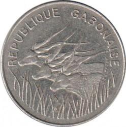 Minca > 100francs, 1971-1972 - Gabon  - obverse