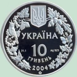 Монета > 10гривен, 2004 - Украина  (Флора и фауна - Азовка) - reverse