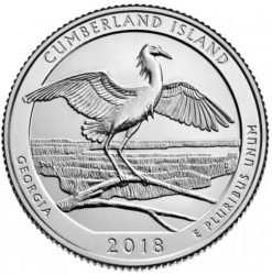 Moneda > ¼dollar, 2018 - Estats Units  (Costa del les Illes Cumberland) - reverse