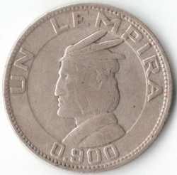 Монета > 1лемпира, 1931-1937 - Хондурас  - obverse