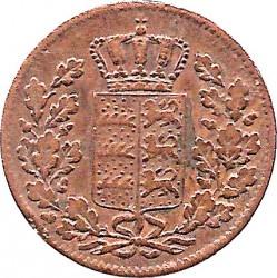 Кованица > ½крајцера, 1840-1856 - Virtemberg  - obverse