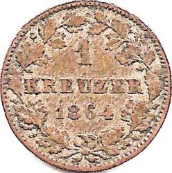 Кованица > 1крајцер, 1857-1864 - Virtemberg  - reverse