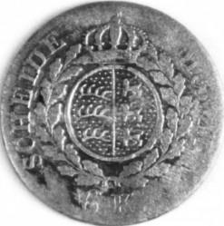 """Кованица > 6крајцера, 1823 - Virtemberg  (Short legend: """"KON. V. WÜRTTEMB"""") - reverse"""