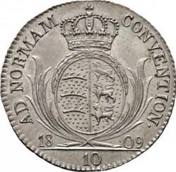 Кованица > 10крајцера, 1808-1809 - Virtemberg  - reverse