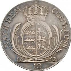 """Кованица > 10крајцера, 1812 - Virtemberg  (Short legend: """"FRID."""") - reverse"""