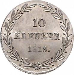 Кованица > 10крајцера, 1818 - Virtemberg  - reverse
