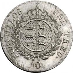 Кованица > 10крајцера, 1823 - Virtemberg  - reverse