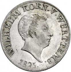 Кованица > 12крајцера, 1825 - Virtemberg  - obverse