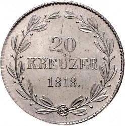 Кованица > 20крајцера, 1818 - Virtemberg  - reverse