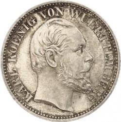 Кованица > ½гулдена, 1865-1868 - Virtemberg  - obverse
