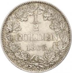 Кованица > ½гулдена, 1865-1868 - Virtemberg  - reverse