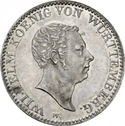 Кованица > 1гулден, 1824 - Virtemberg  (W/o mintmark) - obverse