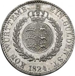 Кованица > 1гулден, 1824 - Virtemberg  (W/o mintmark) - reverse