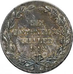 Кованица > 1thaler, 1818 - Virtemberg  (Conventionsthaler) - reverse