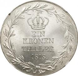 Кованица > 1thaler, 1818 - Virtemberg  (Kronen Thaler) - reverse
