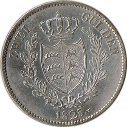 Кованица > 2гулдена, 1825 - Virtemberg  - reverse