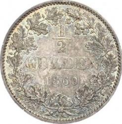 Кованица > ½гулдена, 1868-1871 - Virtemberg  - reverse