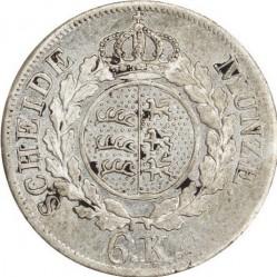 Кованица > 6крајцера, 1823-1825 - Virtemberg  - reverse