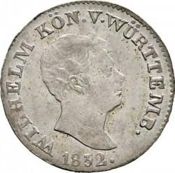 Кованица > 3крајцера, 1826-1837 - Virtemberg  - obverse