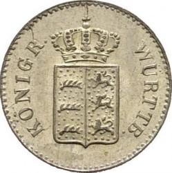 Кованица > 1крајцер, 1842-1857 - Virtemberg  - obverse